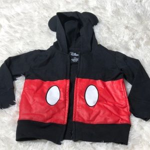 Disney Mickey Mouse Hoodie with Ears Size 4